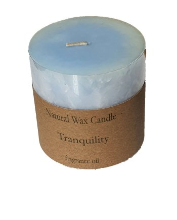 Heaven Scent Organic Candle Tranquillity Pillar Candle