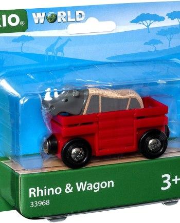 BRIO World-Safari Rhino & Wagon