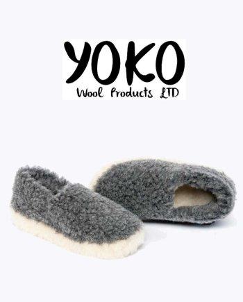 Yoko Wool Slippers Siberian Graphite