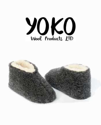 Yoko Wool Slippers Skipper Graphite