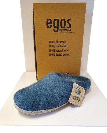 Egos Sea Blue Mule Slipper
