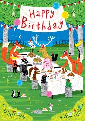Woodland Happy Birthday Card