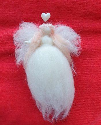 Felt White Fairy