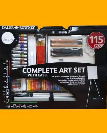 Complete Art Set with Easel by Daler Rowney Simply
