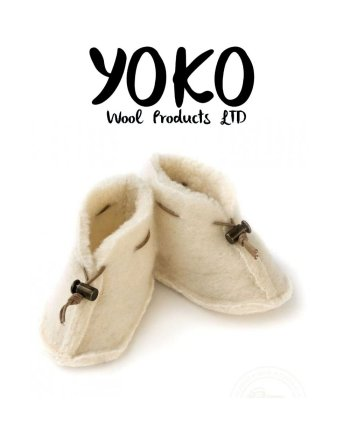 Yoko Wool Booties - Natural