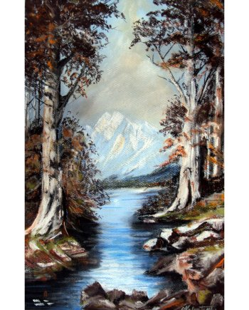 Disappearing Mountains Card
