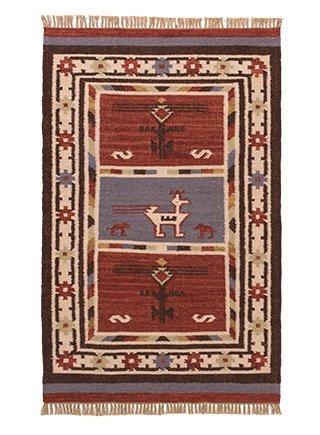 Namaste Birdsong Indian Kilim Rug 75 x 120cm