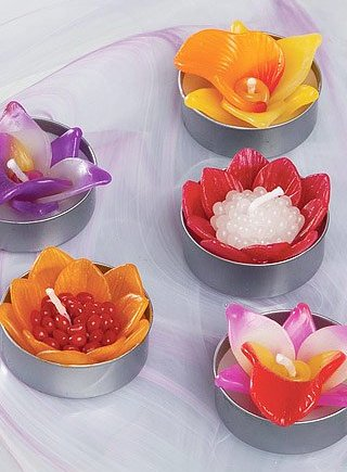 Namaste Box of 6 Scented Orchid Flower Tealights
