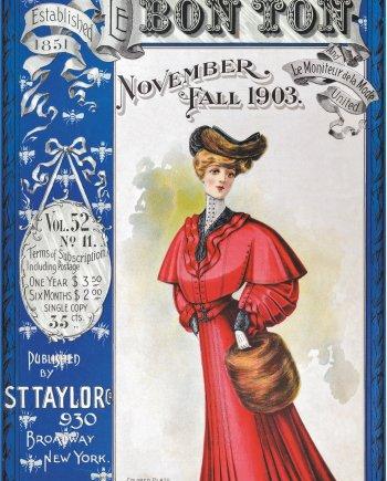 BON TON MAGAZINE COVER 1903 Jigsaw Puzzle