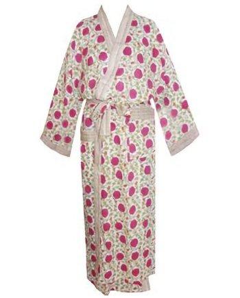 Dressing Gown Kimono Ivory Tulip