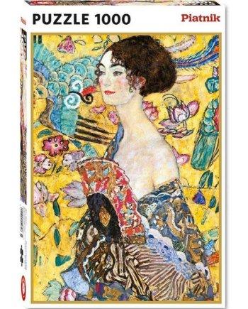 Klimt Lady with a Fan Jigsaw Puzzle_a