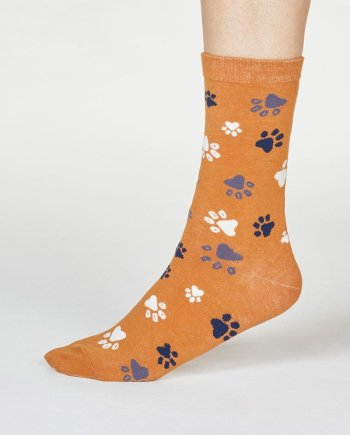 Thought Elsa Paw Print Sock