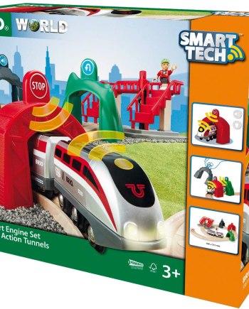 BRIO World Smart Tech Engine with Action Tunnels Train Set