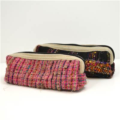 Recycled Silk Zip Pencil Case