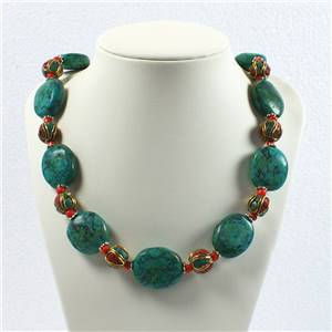 Tibetan Bead and Turquoise necklace 854481