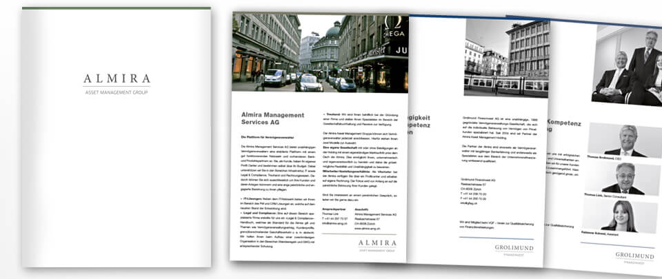 Graphic Design Mappe & Leaflets