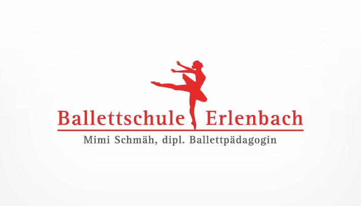 Logo Design Ballettschule Erlenbach