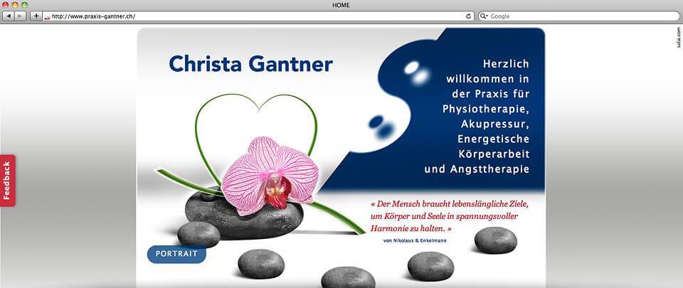 Webdesign und -programmierung Website Praxis-Gantner, Erlenbach