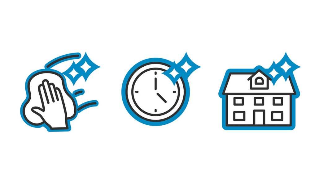 Illustrationen Icons für glänzend.ch