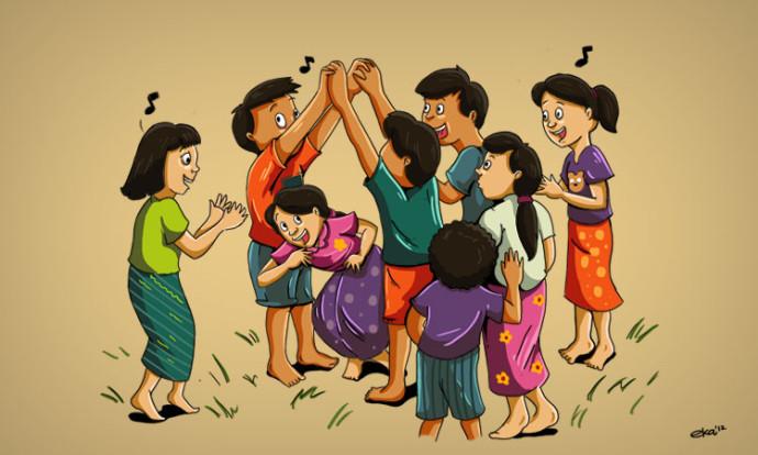 permainan tradisional sunda oray orayan