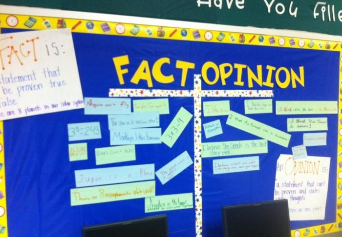 contoh kalimat fakta dan opini