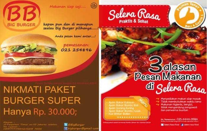 contoh iklan makanan