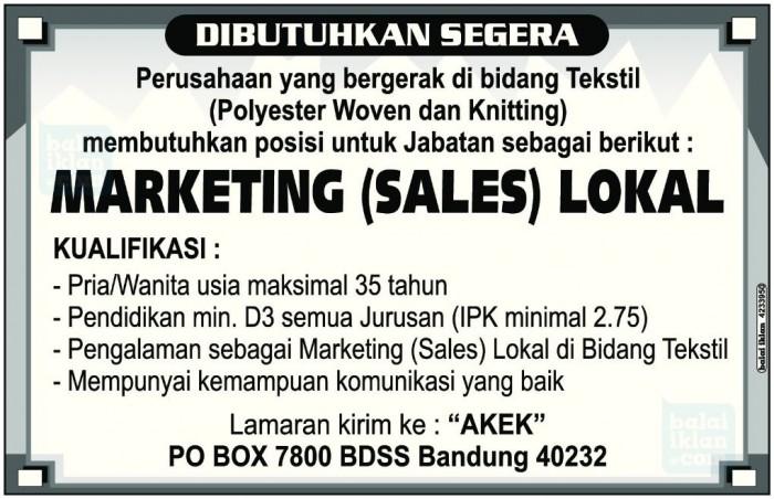 contoh iklan lowongan pekerjaan beserta surat lamaran