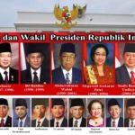 DAFTAR URUTAN PRESIDEN dan Wakil Presiden Indonesia (Presiden Ke 1 2 3 4 5 6 7)