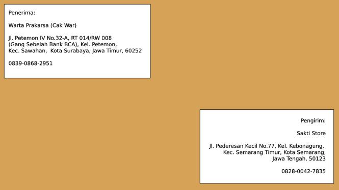menulis alamat surat