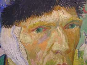 Courtauld 01-2 Vincent Van Gogh - Self-Portrait with Bandaged Ear Close Up