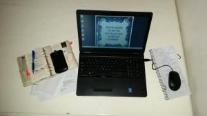 laptop agenda to do blog