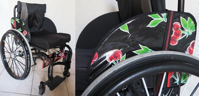 rolstoel kersenprint