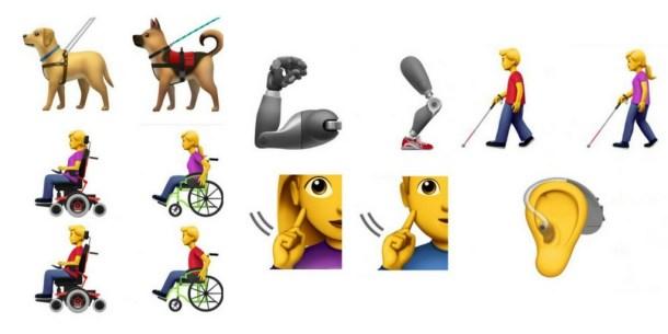 apple emoji's gehandicapten