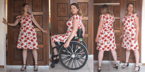 anna dress klaproos by hand london