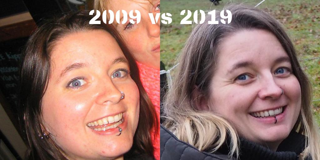 10yearchallenge 2009 vs 2019