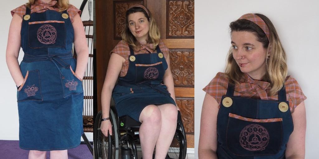 schortjurk retro blouse diadeem rolstoelmode