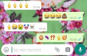 schelden emoji's