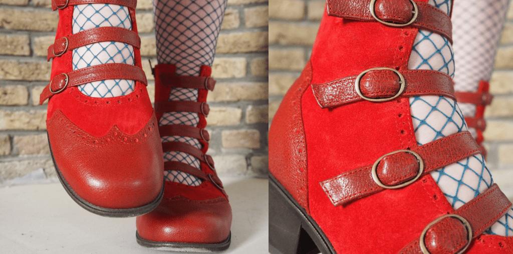 rode orthopedische open schoenen