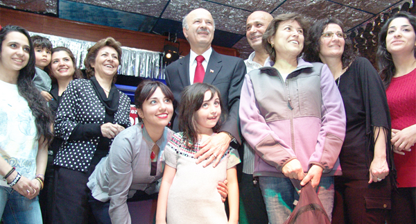 At the victory party Moridi was especially thankful to the hundreds of volunteers in his campaign