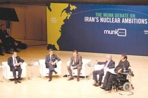 روز دوشنبه 26 نوامبر 2012 بیش از سه هزار نفر در رویتامسون هال تورنتو شاهد مناظره چهار تحلیلگر و نظریهپرداز درباره نحوه برخورد جهان با مسئله برنامه هستهای ایران بودند- عکس از سلام تورنتو (محمد تاجدولتی)