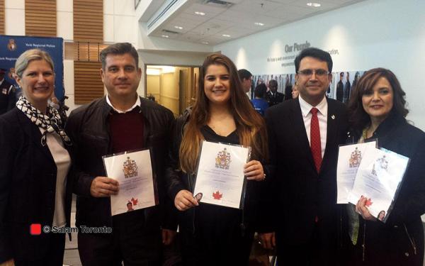 خانواده بیژن احمدی نژاد و مجید جوهری و لیونا آلسالف نمایندگان پارلمان کانادا