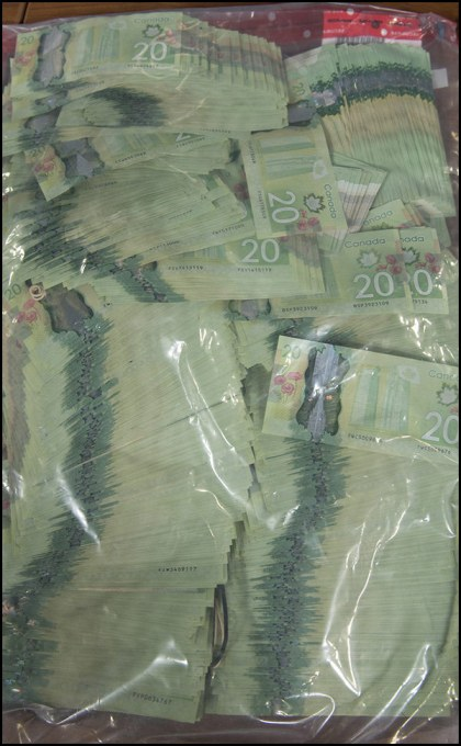 Over $45,000 in cash was seized.
