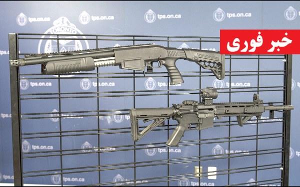 A Dagger Sap6 12-gauge shotgun and Anderson AM 15-M4 rifle seized by police