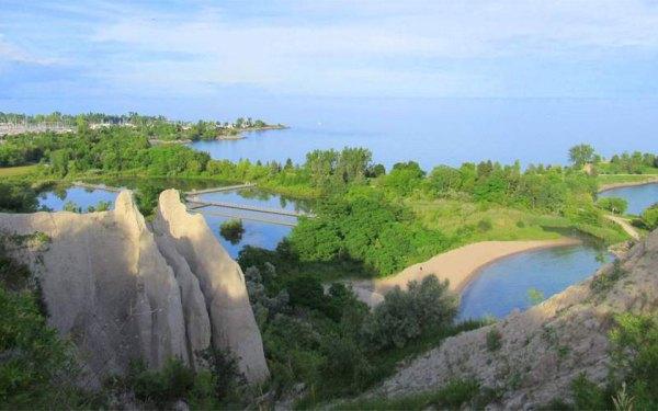 اسکاربرو بلافز و بلافرز پارک از مناطق مورد علاقه قایقرانان  و طرفداران ورزش های آبی