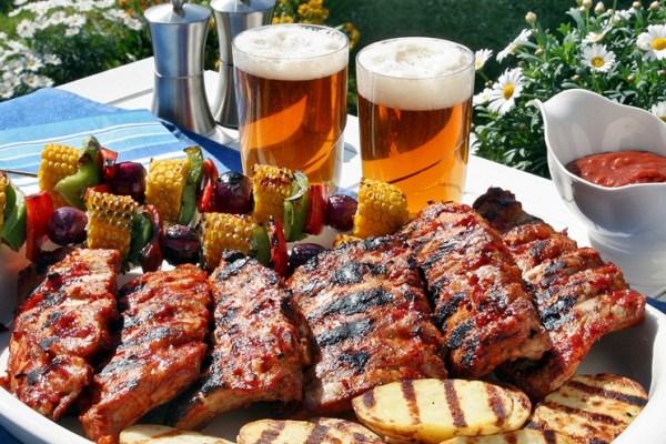 rib and beer