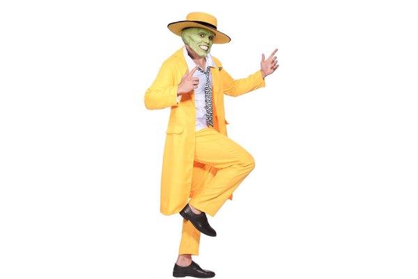 """جیم کری در گریم و لباس فیلم  کمدی """"ماسک"""""""