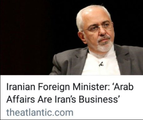 همزمان با روز شکرگزاری در کانادا مقاله جواد ظریف با عنوان: «وزیر خارجـه ایـران: امور اعراب به ایران مربوط می شود» در رسانه آتلانتیک منتشر شد.