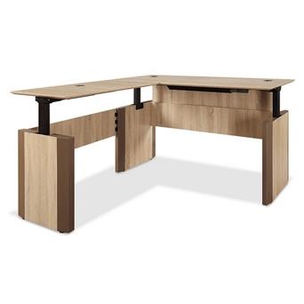 Height Adjustable Reversible L-Desk