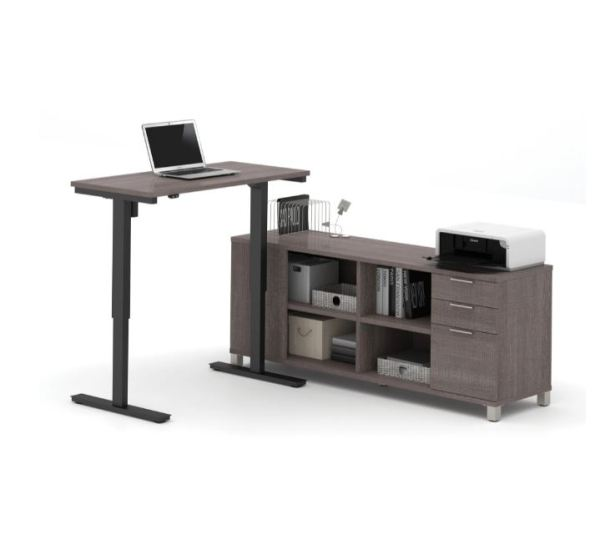 Luxurious Height Adjustable Desk With Credenza   HAD 39