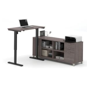 Luxurious Height Adjustable Desk With Credenza | HAD 39